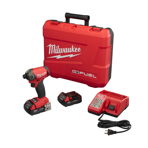 Factory Reconditioned Milwaukee 2760-82CT M18 18V 2.0 Ah FUEL SURGE 1/4 in. Hex Hydraulic Impact Driver Kit