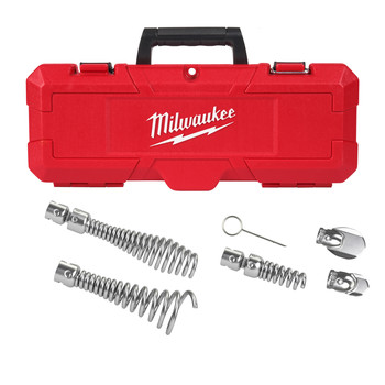 Milwaukee 48-53-3820 6-Piece 1-1/4 in. - 2 in. Head Attachment Kit For 5/8 in. Sectional Cable Set
