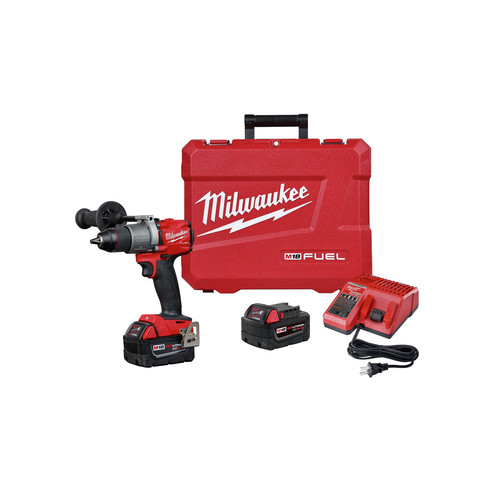 Milwaukee 2803-22 M18 FUEL Lithium-Ion 1/2 in. Cordless Drill Driver Kit (5 Ah) image number 0
