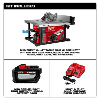 Milwaukee 2736-21HD M18 FUEL 8-1/4 in. Table Saw with ONE-KEY Kit image number 8
