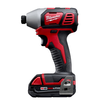 Milwaukee 2656-22CT M18 Lithium-Ion 1/4 in. Hex Compact Impact Driver Kit (1.5 Ah) image number 1