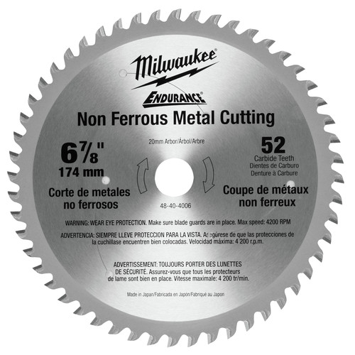 Milwaukee 48-40-4006 6-7/8 in. Circular Saw Blade (52 Tooth) image number 0