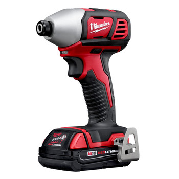 Factory Reconditioned Milwaukee 2656-82CT M18 18V Cordless Lithium-Ion 1/4 in. Hex Compact Impact Driver Kit (1.5 Ah) image number 1