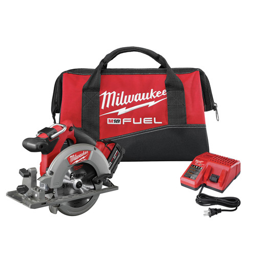 Factory Reconditioned Milwaukee 2730-81 M18 FUEL Cordless 6-1/2 in. Circular Saw with REDLITHIUM Battery