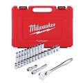 Milwaukee 48-22-9510 28-Piece Metric 1/2 in. Drive Ratchet and Socket Set image number 0