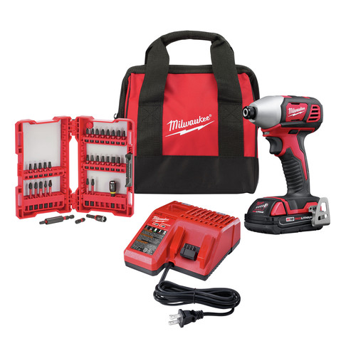Milwaukee 2656-21B M18 18V 1/4 in. Hex Impact Driver Kit image number 0