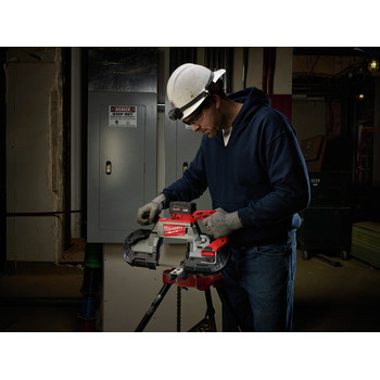 Milwaukee 2729-21 M18 FUEL Cordless Lithium-Ion Deep Cut Band Saw with XC 5.0 Ah Battery image number 6