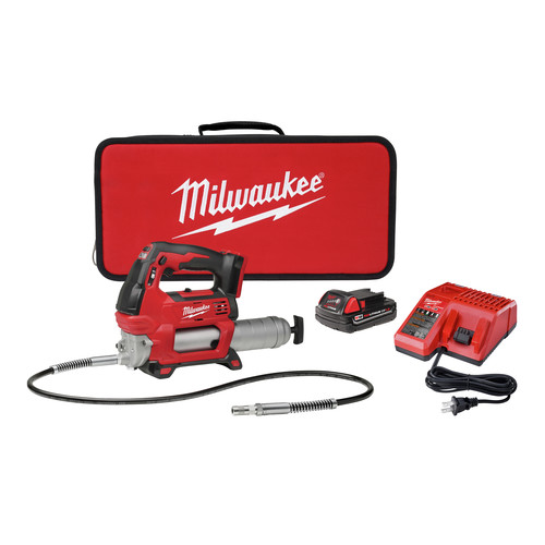 Milwaukee 2646-21CT M18 18V Lithium-Ion 2-Speed Cordless Grease Gun Kit image number 0