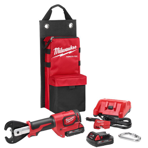 "Factory Reconditioned Milwaukee 2678-82 M18 Force Logic 18V 2.0 Ah Cordless Lithium-Ion 6T Utility Crimper Kit with D3 ""Snub Nose"" Groves"