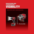 Milwaukee 2854-22CT M18 FUEL Lithium-Ion Brushless Compact 3/8 in. Cordless Impact Wrench Kit with Friction Ring (2 Ah) image number 6