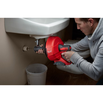 Milwaukee 2571-21 12V Cordless Lithium-Ion Drain Snake Kit with Bucket image number 4
