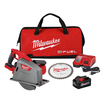 Milwaukee 2982-21 M18 FUEL Lithium-Ion Metal Cutting 8 in. Cordless Circular Saw Kit (8 Ah)