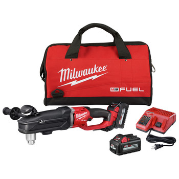 Milwaukee 2809-22 M18 FUEL SUPER HAWG Lithium-Ion 1/2 in. Cordless Right Angle Drill Kit (6 Ah) image number 0