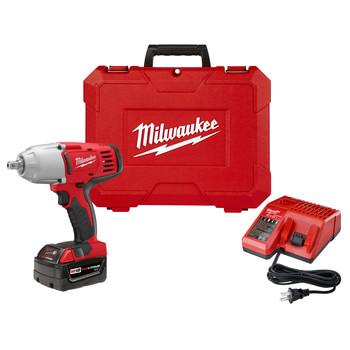 Milwaukee 2662-21 M18 18V Cordless 1/2 in. Lithium-Ion High Torque Impact Wrench Kit image number 0