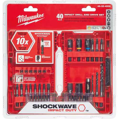 Milwaukee 48-32-4006 40-Piece Shockwave Drill and Drive Bit Set
