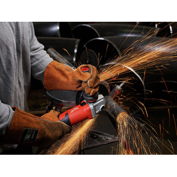 Milwaukee 6161-33 6 in. 13 Amp Slide Switch Small Angle Grinder with Lock-On Button image number 1