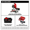 Milwaukee 2734-21HD M18 FUEL 9.0 Ah Cordless Lithium-Ion 10 in. Dual Bevel Sliding Compound Miter Saw image number 10