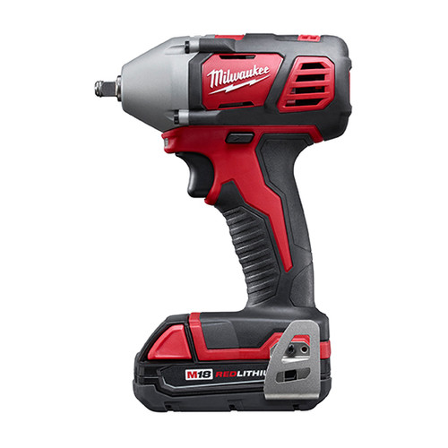 Milwaukee 2658-22CT M18 Lithium-Ion 3/8 in. Impact Wrench Kit with Friction Ring image number 1