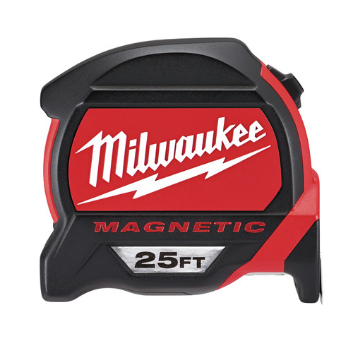 Milwaukee 48-22-7125C 25 ft. Magnetic and Compact Tape Measure (2 Pc) image number 0