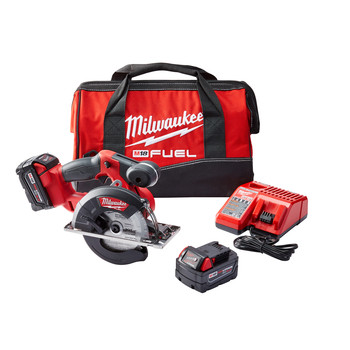 Milwaukee 2782-22 M18 FUEL 5.0 Ah Cordless Lithium-Ion FUEL Metal Cutting Circular Saw Kit