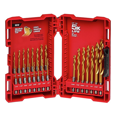 Milwaukee 48-89-4631 23-Piece Titanium SHOCKWAVE Bit Set image number 0