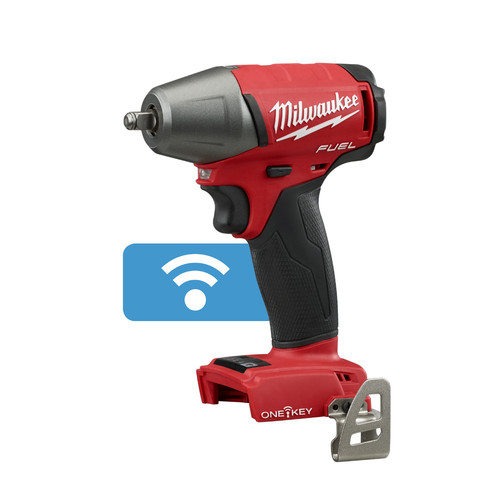 Factory Reconditioned Milwaukee 2758-80 M18 FUEL 18V Cordless Lithium-Ion 3/8 in. Compact Impact Wrench with Friction Ring & ONE-KEY Connectivity (Bare Tool)