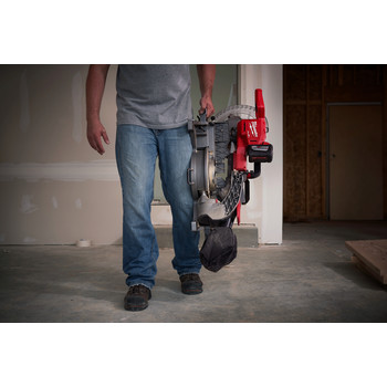 Factory Reconditioned Milwaukee 2734-81HD M18 FUEL 9.0 Ah Cordless Lithium-Ion 10 in. Dual Bevel Sliding Compound Miter Saw image number 7