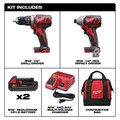 Milwaukee 2691-22 M18 18V Lithium-Ion 1/2 in. Drill Driver and 1/4 in. Impact Driver High Performance Combo Kit image number 5