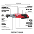 Milwaukee 2557-20 M12 FUEL Compact Lithium-Ion 3/8 in. Cordless Ratchet (Tool Only) image number 1