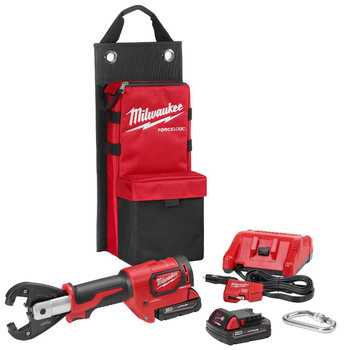 Milwaukee 2678-22K M18 Force Logic 18V 2.0 Ah Cordless Lithium-Ion 6T Utility Crimper Kit with Kearney Grooves image number 0