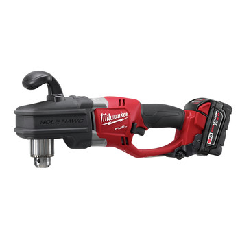 Milwaukee 2708-22 M18 FUEL HOLE HAWG Lithium-Ion 1/2 in. Cordless Right Angle Drill Kit with QUIK-LOK (5 Ah) image number 1