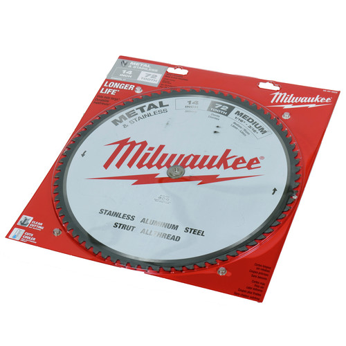 Milwaukee 48-40-4505 14 in. Circular Saw Blade (72 Tooth)