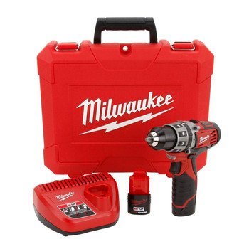 Milwaukee 2411-22 M12 Lithium-Ion 3/8 in. Hammer Drill Driver Kit