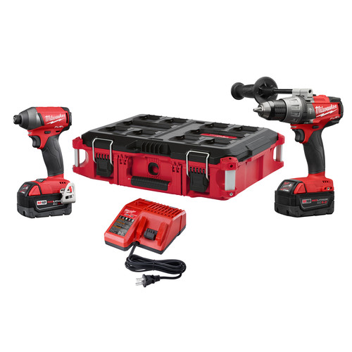 Milwaukee 2897-22PO M18 FUEL 2-Pc Combo Kit with FREE PACKOUT Case