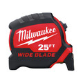 Milwaukee 48-22-0225 25 ft. Wide Blade Tape Measure image number 0