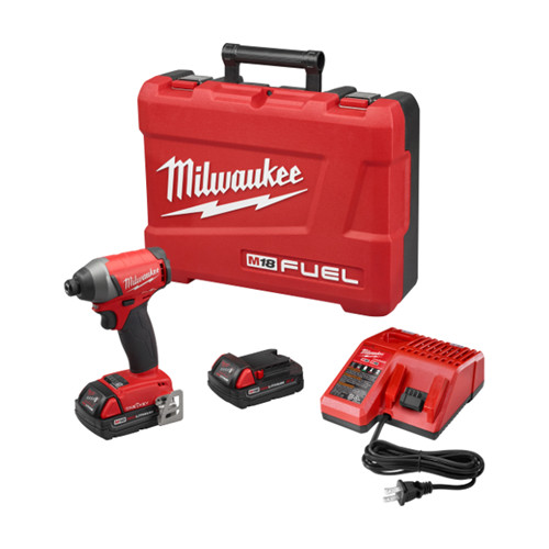 Factory Reconditioned Milwaukee 2757-82CT M18 FUEL  18V 2.0 Ah Cordless Lithium-Ion 1/4 in. Hex Impact Driver Kit with ONE-KEY Connectivity