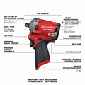 Milwaukee 2555P-20 M12 FUEL Stubby 1/2 in. Impact Wrench with Pin Detent (Tool Only) image number 1