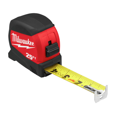 Milwaukee 48-22-0425 25 ft. Compact Wide Blade Tape Measure image number 2