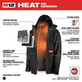 Milwaukee 255B-21XL M12 3-in-1 Heated AXIS Jacket Kit with Gridiron Workshell - XL image number 3