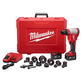 Milwaukee 2676-22 M18 FORCE LOGIC Cordless Lithium-Ion High Capacity Knockout Kit with EXACT 1/2 - 2 in. Knockout Set image number 0