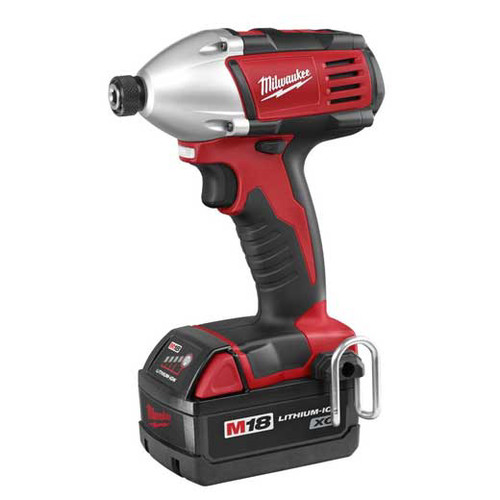 Factory Reconditioned Milwaukee 2650-82 M18 18V Cordless 1/4 in. Lithium-Ion Compact Impact Driver Kit