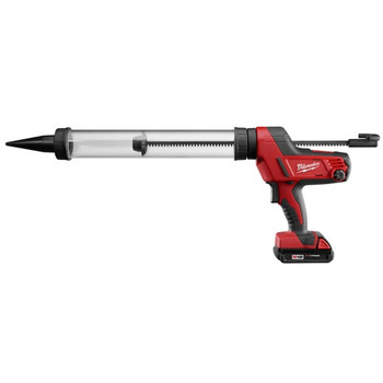 Milwaukee 2643-21CT M18 18V Cordless Lithium-Ion Caulk/Adhesive Gun with 20 oz. Clear Barrel Sausage Style Carriage image number 1