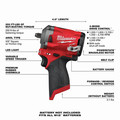 Milwaukee 2554-20 M12 FUEL Compact Lithium-Ion 3/8 in. Cordless Stubby Impact Wrench (Tool Only) image number 1