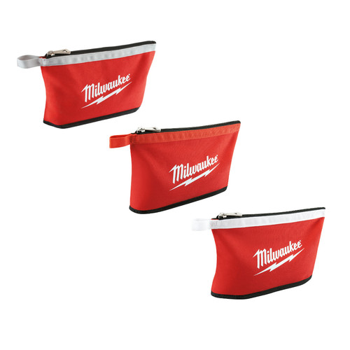 Milwaukee 48-22-8193 Zipper Pouch (Assorted Colors) 3-Pack