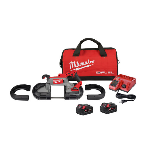 Milwaukee 2729S-22 M18 FUEL Cordless Lithium-Ion Deep Cut Dual-Trigger Band Saw Kit (5 Ah) image number 0
