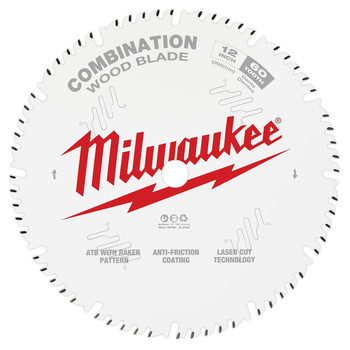 Milwaukee 48-40-1222 12 in. 60T Combination Circular Saw Blade image number 0