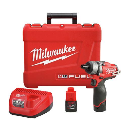 Hex Screwdriver Kit Milwaukee 2401-22 M12 12-Volt Lithium-Ion 1//4 in