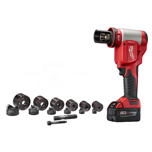 Factory Reconditioned Milwaukee 2676-82 M18 FORCE LOGIC 18V Cordless Lithium-Ion High Capacity Knockout Kit with EXACT 1/2 - 2 in. Knockout Set image number 0