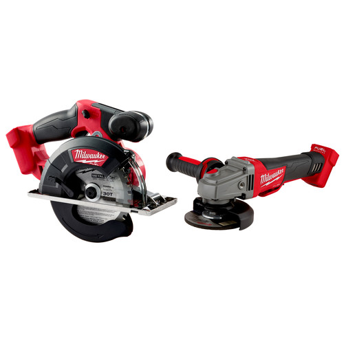 Milwaukee 2782-2783-CPO M18 FUEL Cordless 4-1/2 in. - 5 in. Braking Angle Grinder (Tool Only) plus M18 FUEL Metal Cutting Circular Saw (Tool Only) image number 0