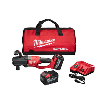 Milwaukee 2708-22HD M18 FUEL HOLE HAWG Lithium-Ion 1/2 in. Cordless Right Angle Drill Kit with QUIK-LOK (9 Ah) image number 0